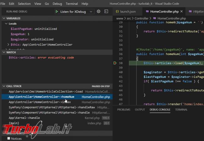 Come configurare Xdebug Visual Studio Code: Guida Definitiva debug PHP ( breakpoint ed esecuzione step Windows 10 Linux)
