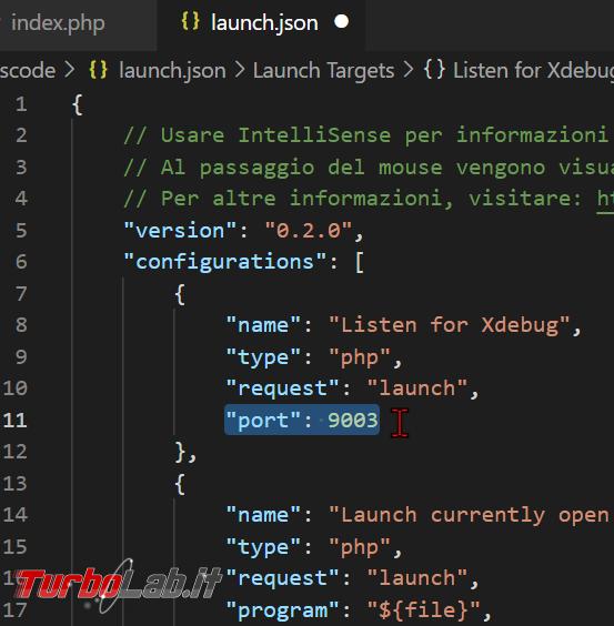 Come configurare Xdebug Visual Studio Code: Guida Definitiva debug PHP ( breakpoint ed esecuzione step Windows 10 Linux) - zShotVM_1622710408