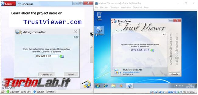 Come connettersi computer remoto TrustViewer