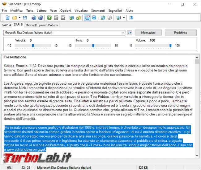 Come convertire documento ebook file audio