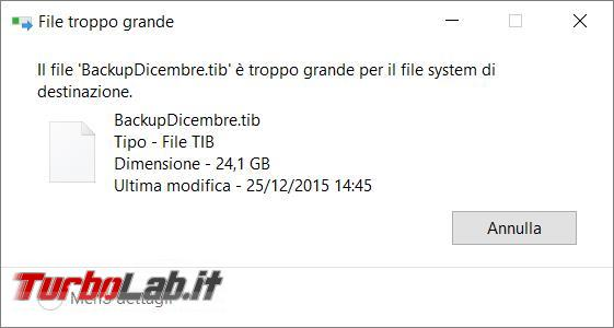 Come convertire file system disco USB FAT32 NTFS viceversa
