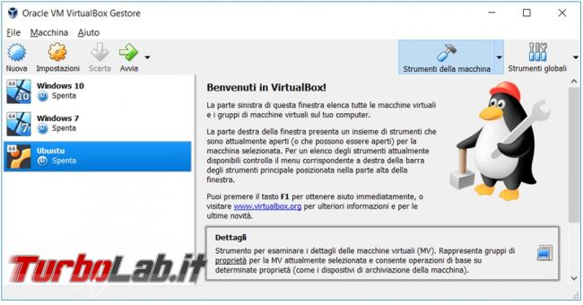Come convertire macchina virtuale VirtualBox Vmware Player