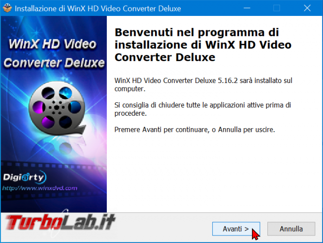 Come convertire video 4K/UHD smartphone/tablet Android, Smart TV console: guida WinX HD Video Converter Deluxe (conversione MP4, H.264, AAC) - zShotVM_1617222088