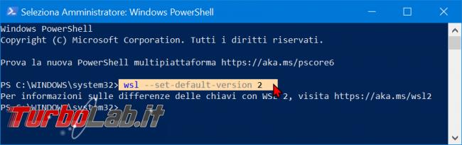 Come convertire WSL1 WSL2 aggiornare distribuzioni già installate (Sottosistema Windows Linux, Windows 10 2004) - zShotVM_1570997682