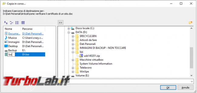 Come copiare spostare file menu contestuale Windows Copy Handler