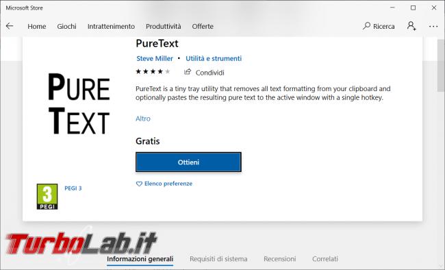 Come copiare testo puro pagina web non solo grazie PureText