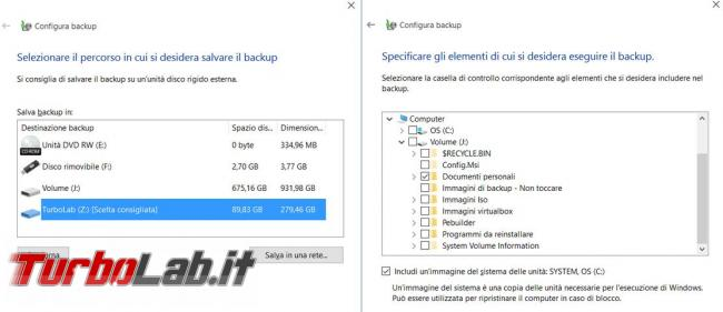 Come creare 'immagine backup Windows 10