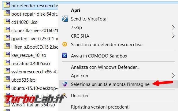 Come creare lettori CD/DVD virtuali WinCDEmu montare immagini ISO