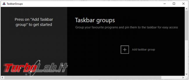 Come creare raccolte collegamenti barra applicazioni Taskbar Groups