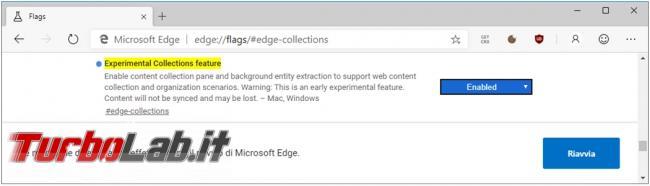Come creare raccolte Microsoft Edge