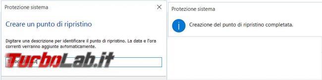 Come creare utilizzare ripristino configurazione Windows 10