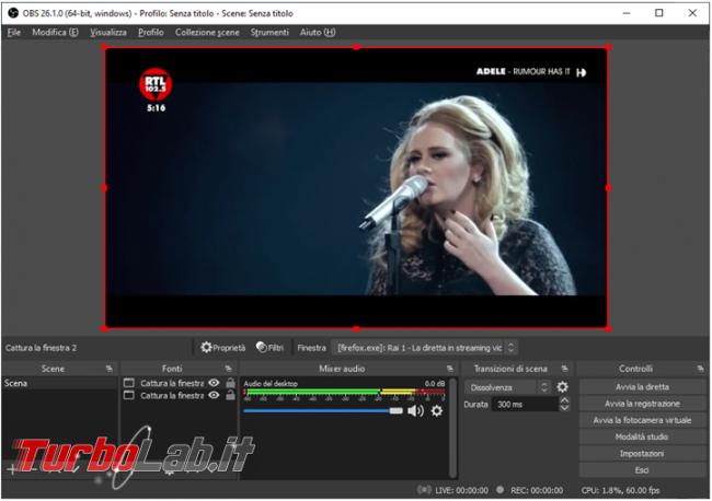 Come creare video streaming browser senza doverlo tenere sempre primo piano