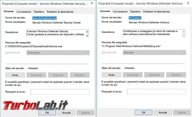 Come disattivare completamente servizi Windows Defender Windows Defender Firewall