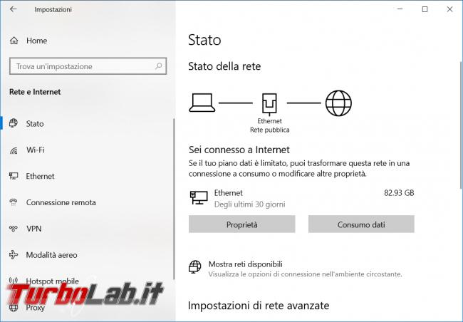 Come disattivare scheda rete chiudere collegamento Internet riga comando