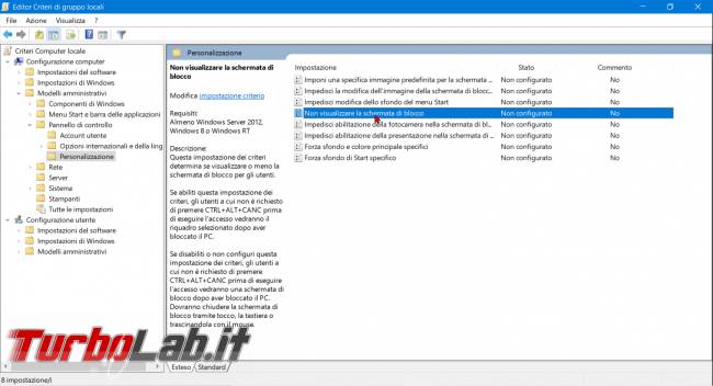 Come disattivare Schermata blocco Windows 10 (Lock screen, NoLockScreen) - zShotVM_1566115982