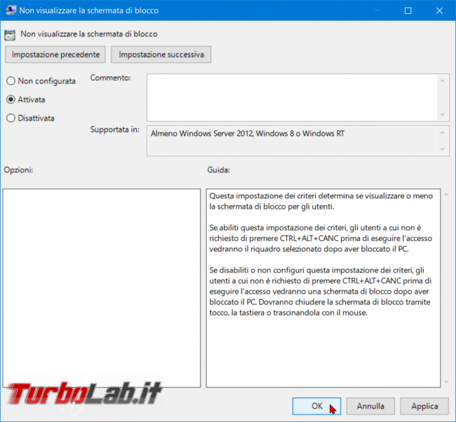 Come disattivare Schermata blocco Windows 10 (Lock screen, NoLockScreen) - zShotVM_1566116006