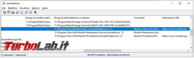 Come disinstallare app programmi Uninstall view installer app view