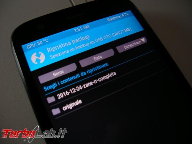 Come disinstallare LineageOS, OmniROM, Resurrection Remix ecc. ripristinare versione originale Android backup Nandroid creato TWRP