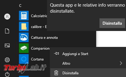 Come disinstallare reinstallare app integrate Windows 10 2004