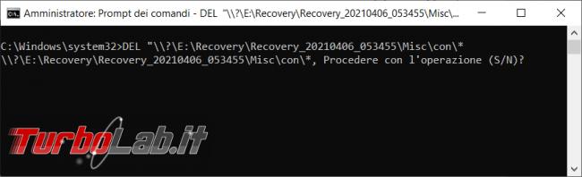 Come eliminare file cartella nome riservato sistema operativo Windows