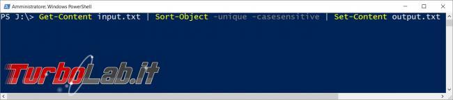 Come eliminare righe duplicate file testo TXT
