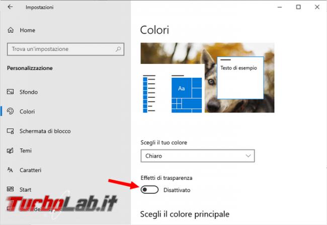 Come eliminare sfocatura schermata d'avvio / blocco Windows 10