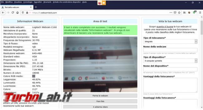 Come eseguire test online webcam