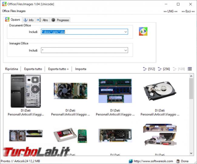 Come estrarre automaticamente tutte immagini documento Office