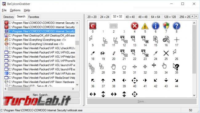 Come estrarre icone eseguibili librerie sistema