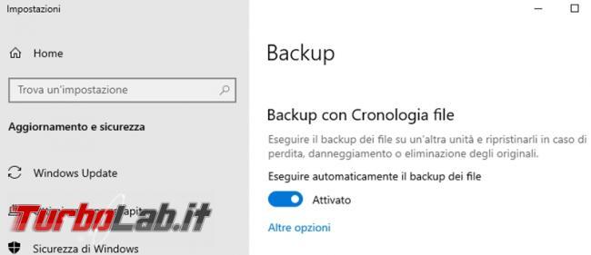 Come fare backup PC Windows 10 Cronologia file (guida rapida)