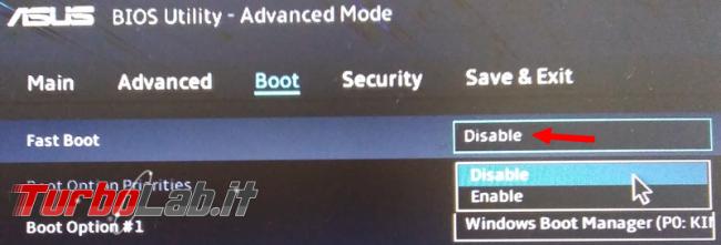 Come fare boot pendrive portatile asus vivobook