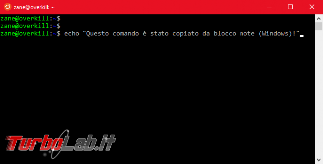 Come fare copia-incolla Linux Ubuntu (Bash) Windows 10 - Ctrl+C / Ctrl+V non funziona! - Mobile_zShot_1536396120