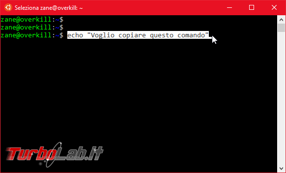 Come fare copia-incolla Linux Ubuntu (Bash) Windows 10 - Ctrl+C / Ctrl+V non funziona! - Mobile_zShot_1536396455