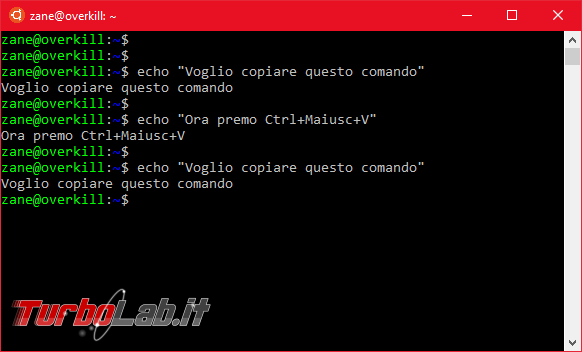Come fare copia-incolla Linux Ubuntu (Bash) Windows 10 - Ctrl+C / Ctrl+V non funziona! - Mobile_zShot_1536396512