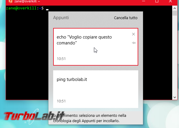 Come fare copia-incolla Linux Ubuntu (Bash) Windows 10 - Ctrl+C / Ctrl+V non funziona! - Mobile_zShot_1536396720