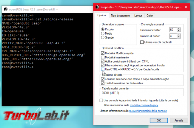 Come fare copia-incolla Linux Ubuntu (Bash) Windows 10 - Ctrl+C / Ctrl+V non funziona! - Mobile_zShot_1536399795