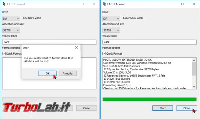 Come formattare chiavetta USB 64 GB più FAT32 Windows 10