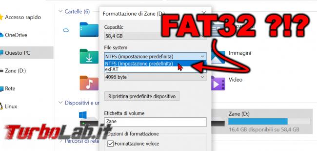 Come formattare chiavetta USB 64 GB più FAT32 Windows 10 - zShotVM_1622365776