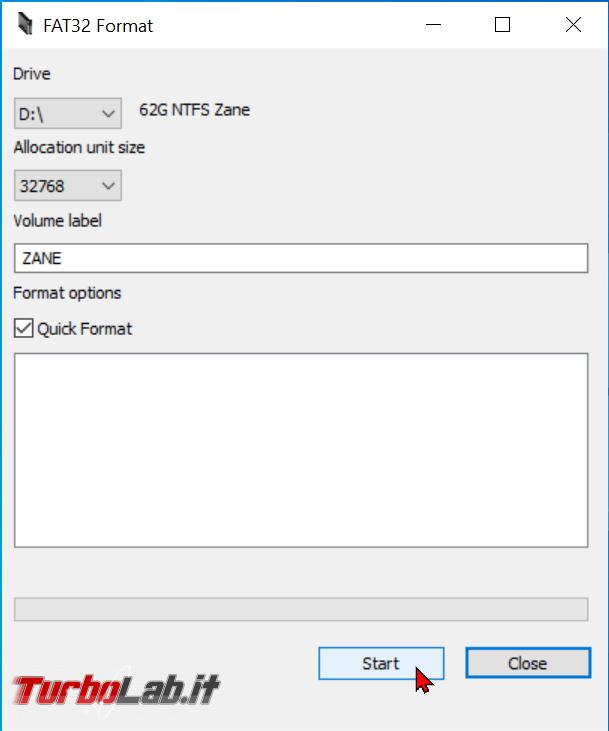 Come formattare chiavetta USB 64 GB più FAT32 Windows 10 - zShotVM_1622366950