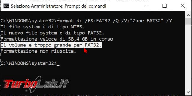 Come formattare chiavetta USB 64 GB più FAT32 Windows 10 - zShotVM_1622369452