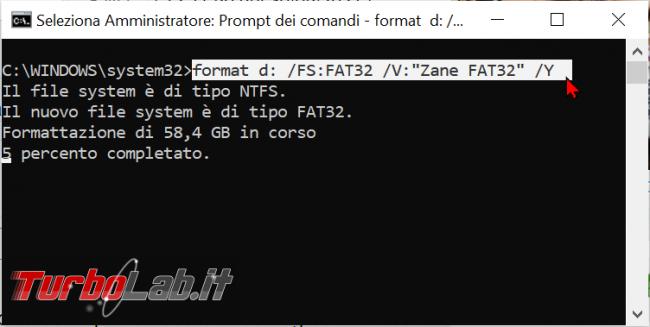 Come formattare chiavetta USB 64 GB più FAT32 Windows 10 - zShotVM_1622369633