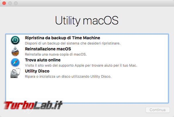 Come formattare reinstallare macOS Mac MacBook (guida) - VirtualBox_macOS_12_10_2017_13_48_21
