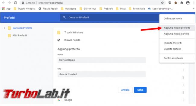 Come forzare riavvio Firefox, Chrome, Opera Microsoft Edge senza perdere tab aperti