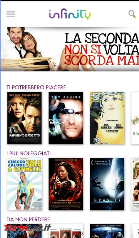 Come guardare film streaming Android - 2017-03-25 18_02_42-Infinity - App Android su Google Play