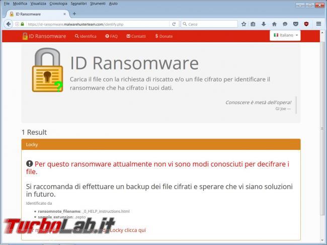 Come identificare tipo ransomware vi ha infettato eliminare richieste riscatto computer