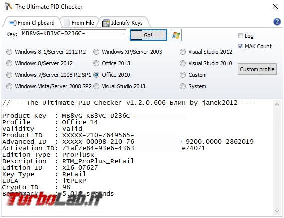 Come identificare versione Windows partendo numero licenza