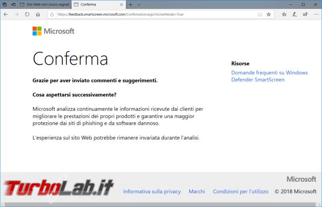 Come ignorare avviso schermata rossa aprire comunque sito pericoloso / non sicuro Microsoft Edge (SmartScreen) - zShotVM_1542445904
