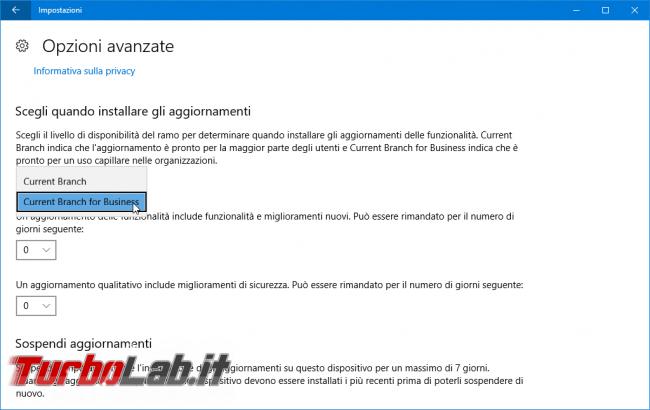 Come impedire/bloccare aggiornamento automatico Windows 10 1709 Fall Creators Update Windows 10 Home/Pro - Mobile_zShot_1508270475