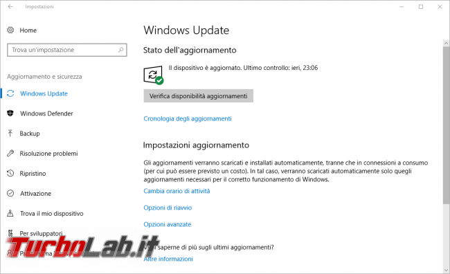 Come impedire/bloccare aggiornamento/upgrade Windows 10 1703 Windows 10 Home/Pro