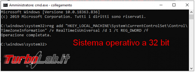 Come impedire cambio d'orario caso dualboot Windows-Linux
